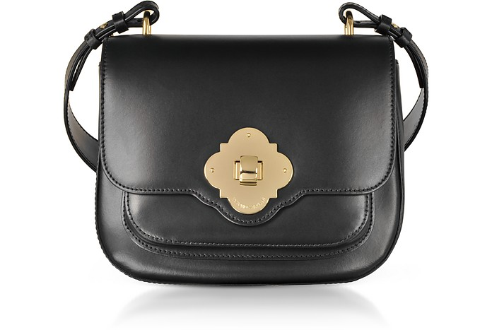 Black Flap Top Shoulder Bag - Emporio Armani
