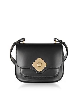 2d09d8a9c2e4 Black Flap Top Shoulder Bag - Emporio Armani