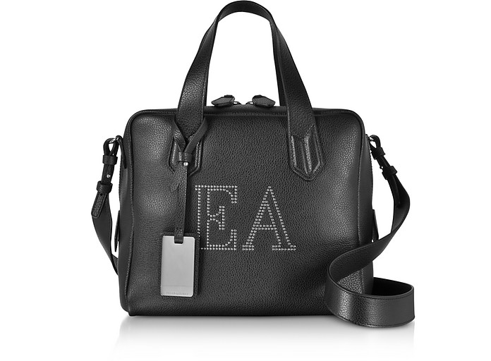 Genuine Leather Top Handles Boston Bag - Emporio Armani