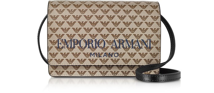 Two tone Flap Mini Shoulder Bag - Emporio Armani