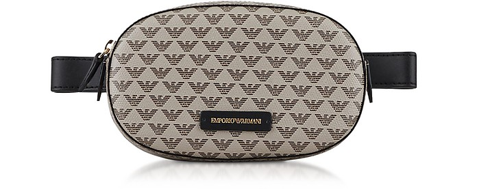 Color Block Signature Belt Bag - Emporio Armani