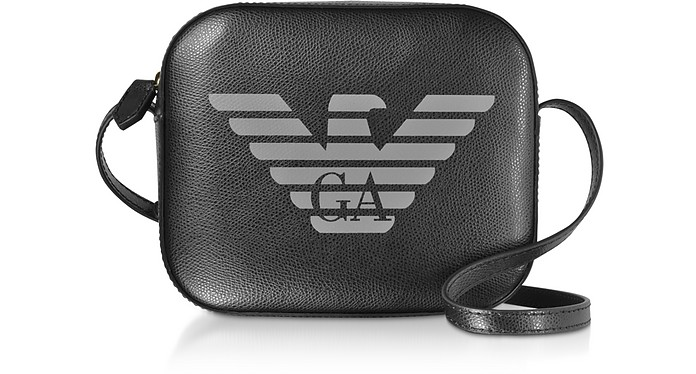Eagle Embossed Shoulder Bag - Emporio Armani