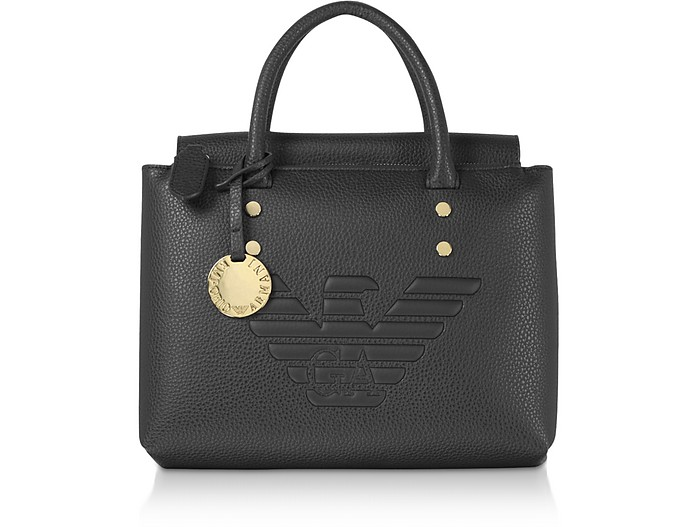 Signature Eoc-Leather Tote Bag - Emporio Armani