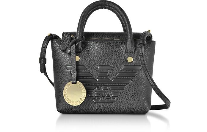Small Top-Handles Eco-Leather Satchel Bag - Emporio Armani
