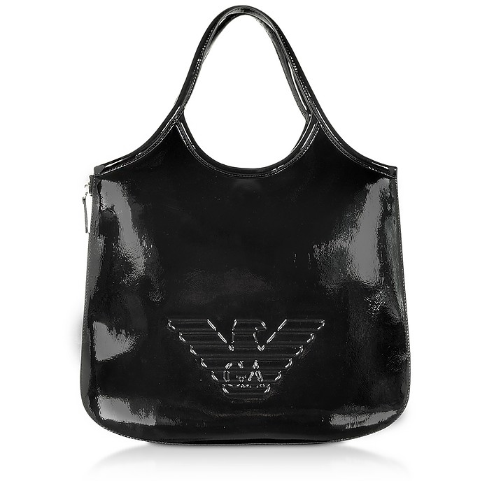 Two-tone Hobo Shoulder Bag - Emporio Armani