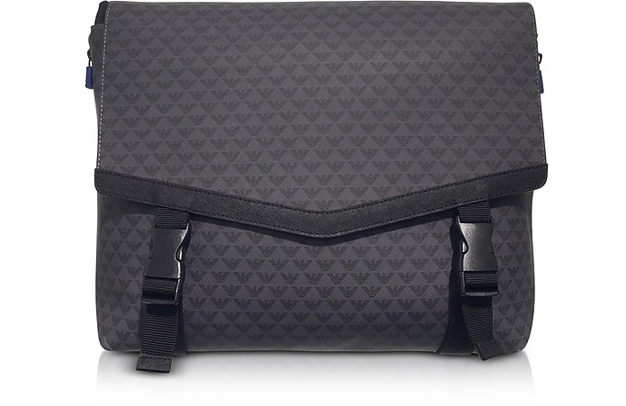 All Over Logo Men's Messenger Bag - Emporio Armani