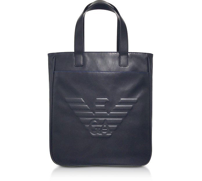 Black Eagle Men's Vertical Tote Bag - Emporio Armani
