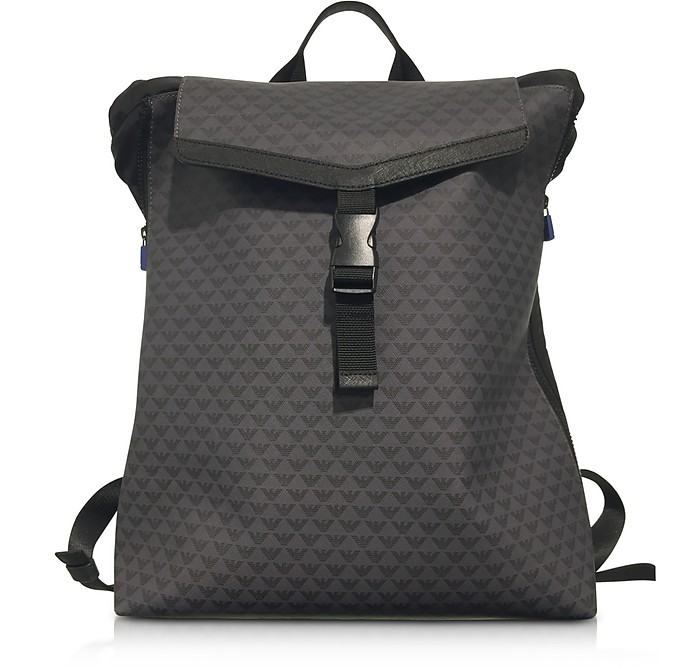 Emporio Armani All Over Logo Men s Backpack at FORZIERI 6a20ec0f2f
