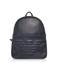 Black Eagle Embossed Men's Backpack - Emporio Armani