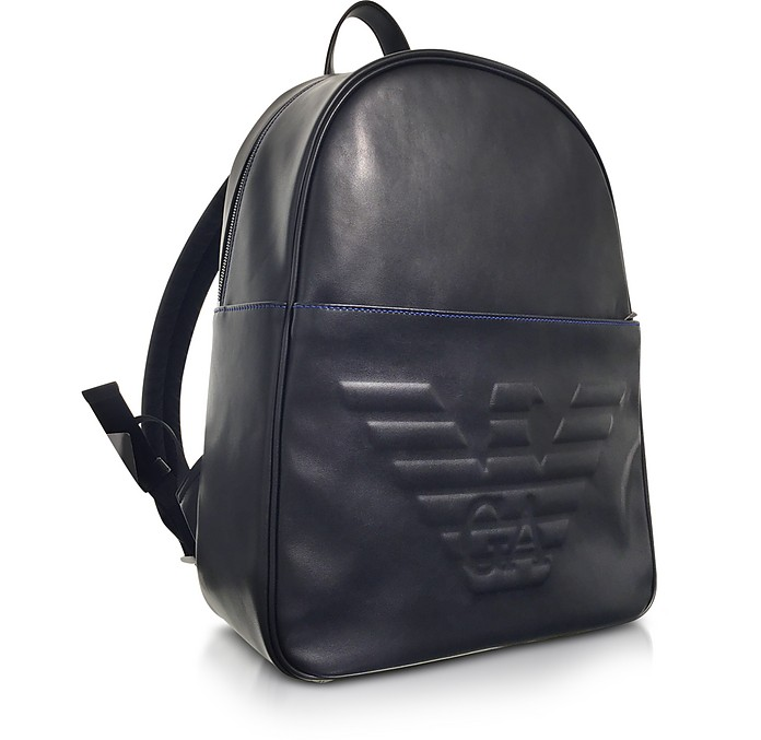 4514aeb5a774 Black Eagle Embossed Eco Leather Men s Backpack - Emporio Armani.  185.50   371.00 Actual transaction amount