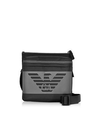 7d76122f9792 Black Men s Messenger Bag - Emporio Armani