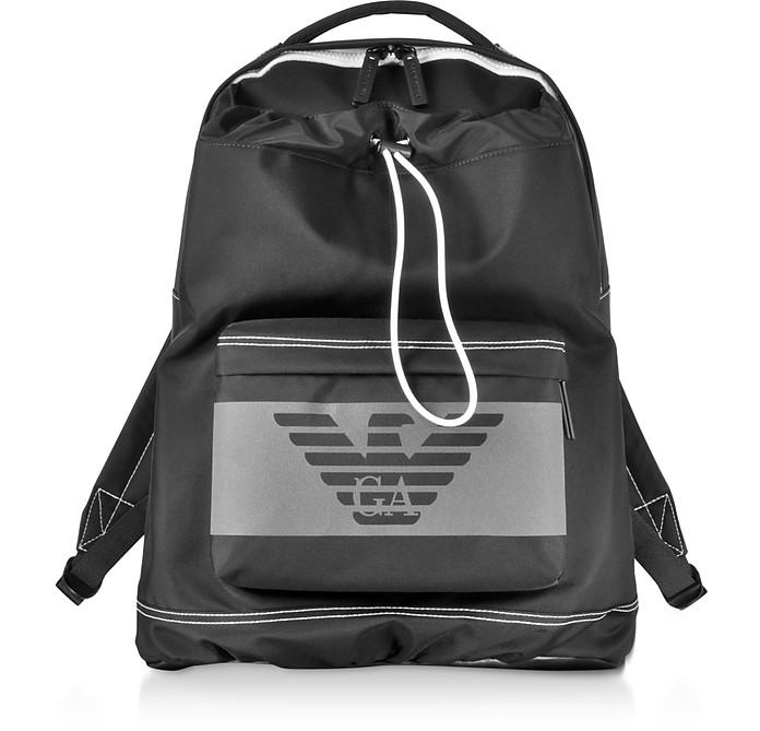 Two Tone Nylon Men's Backpack - Emporio Armani