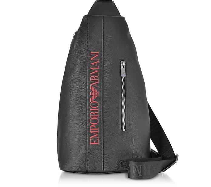 Signature Embossed Eco Leather Men's Backpack - Emporio Armani
