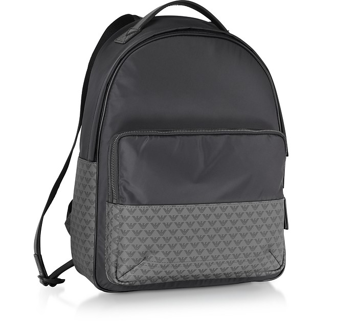 b40f6e0c3d Emporio Armani Two Tone Signature Men's Backpack at FORZIERI