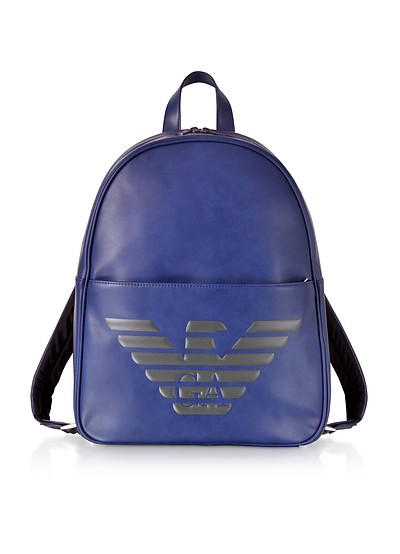 894a967d56 Emporio Armani Mesh and Nylon Logo Print Men's Backpack at FORZIERI ...