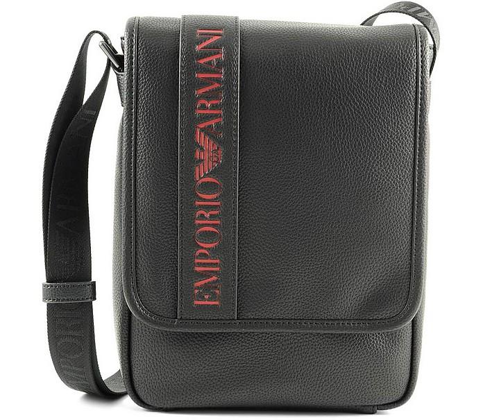 Men's Black Red Shoulder Bag - Emporio Armani