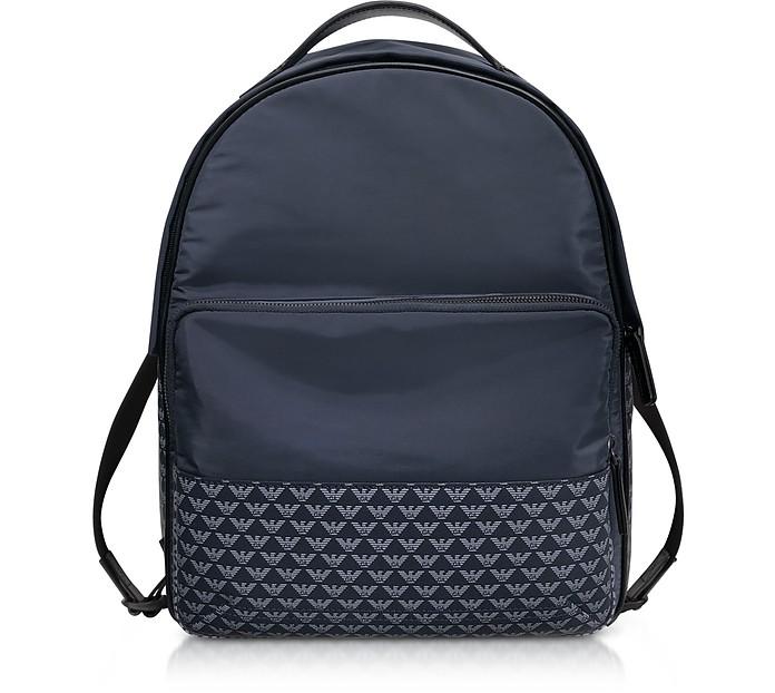 Allover Iconic Eagle Nylon Backpack - Emporio Armani