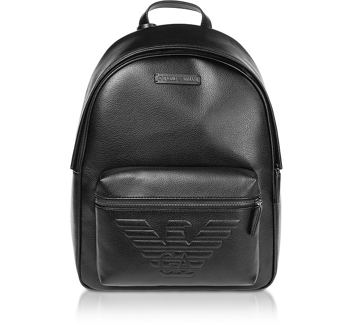 Black Backpack w/ Maxi Logo - Emporio Armani