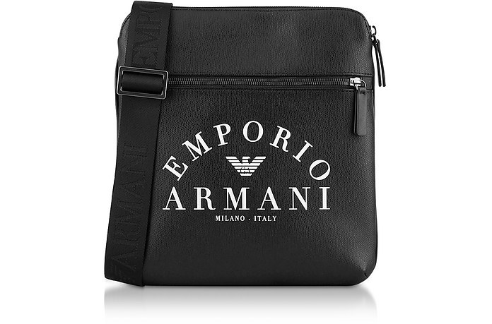 Signature Large Men's Crossbody Bag - Emporio Armani