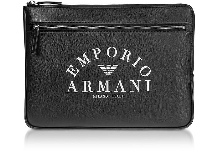 Black Flat Portfolio Case  - Emporio Armani