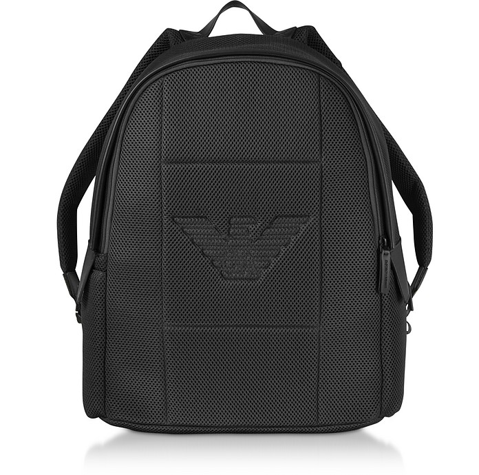Two-tone Backpack w/ Side Pockets - Emporio Armani