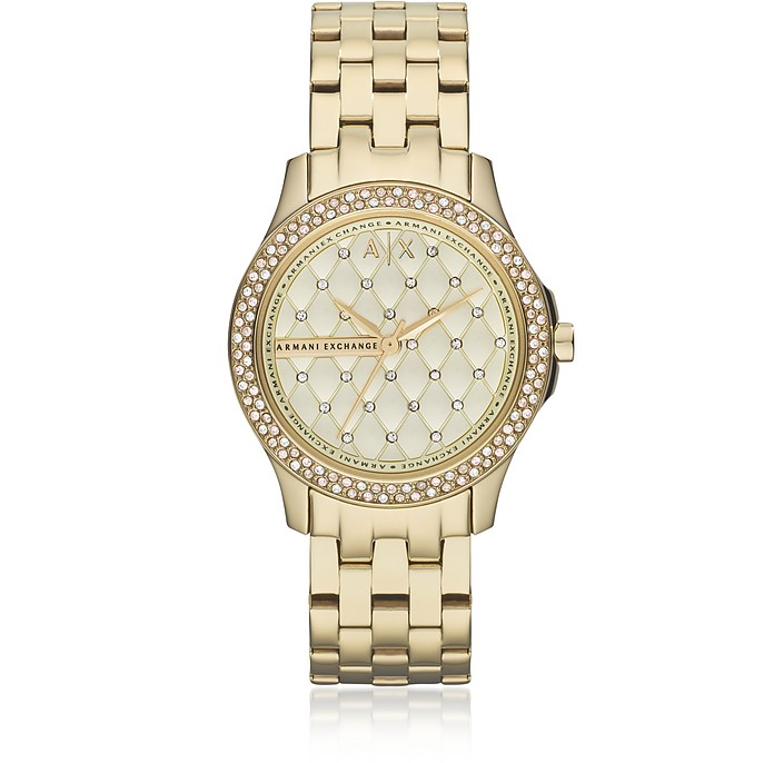 Lady Hampton Gold Tone Women's Watch - Armani Exchange