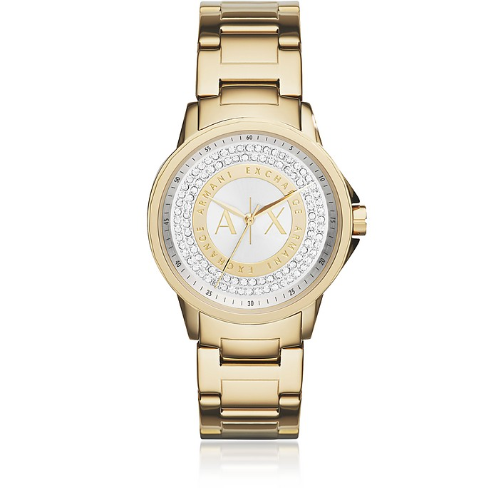 Lady Banks Gold Tone Women's Watch - Armani Exchange