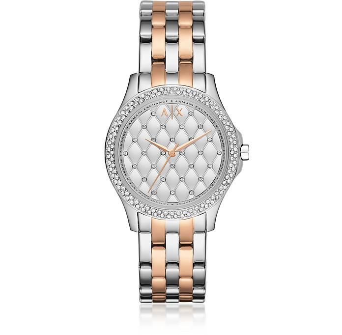 Lady Hampton Two Tone Women's Watch - Armani Exchange
