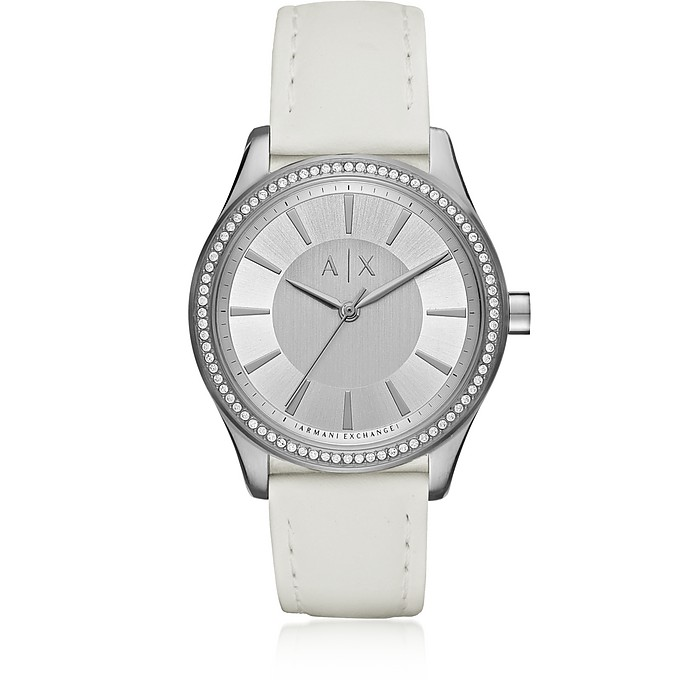 Nicolette White/Stainless Steel Women's Watch - Armani Exchange