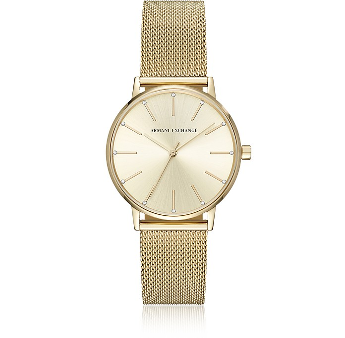 Lola Gold Tone Mesh Women's Watch - Armani Exchange