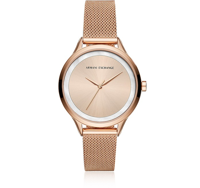 AIX Rose Tone Women's Watch - Armani Exchange