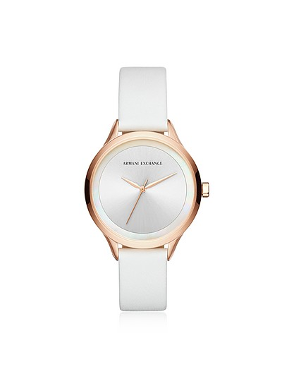 AIX White and Rose Women's Watch - Armani Exchange