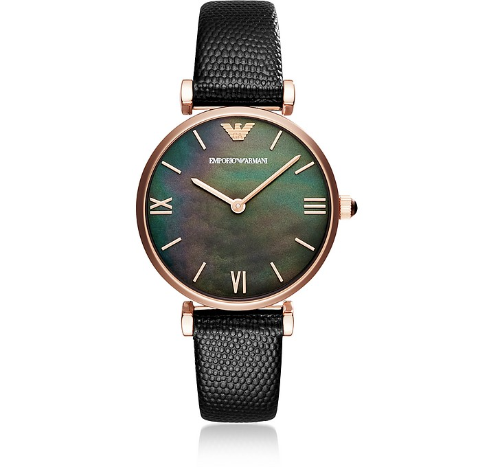 Gianni T-Bar Black Women's Watch - Emporio Armani