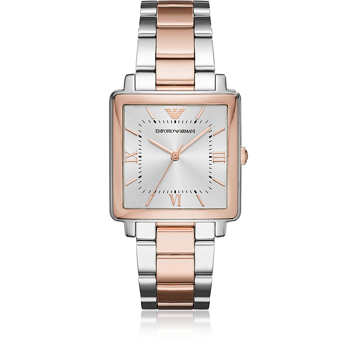 Modern Square Two Tone Women's Watch - Emporio Armani