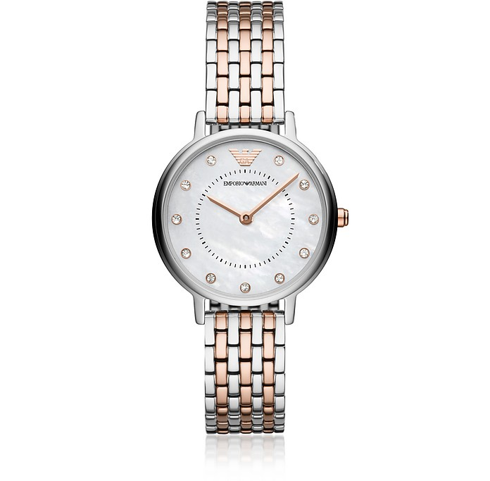 Kappa Two Tone Women's Watch - Emporio Armani