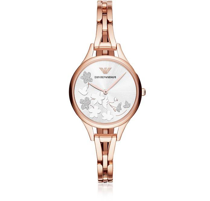 Aurora Rose Tone Flower Women's Watch - Emporio Armani