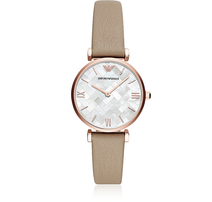 Emporio Armani Dress Watch Rose and Taupe Women's Watch - Emporio Armani