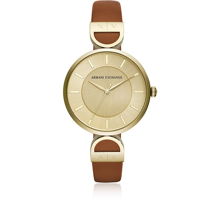 Brooke Gold Tone Luggage Women's Watch - Armani Exchange