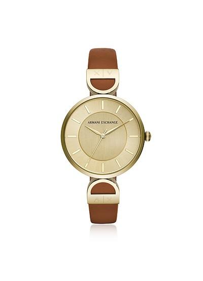 Brooke Gold Tone Luggage Women's Watch - Armani Exchange