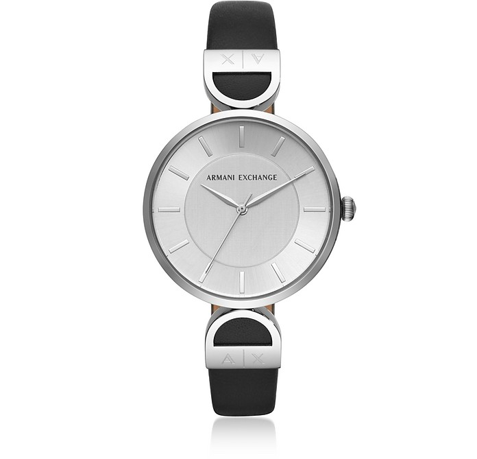 Brooke Stainless Steel Black Women's Watch - Emporio Armani