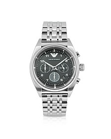 Franco - Brushed and Polished Stainless Steel Watch