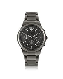 Montre noire en céramique avec chronographe - Emporio Armani