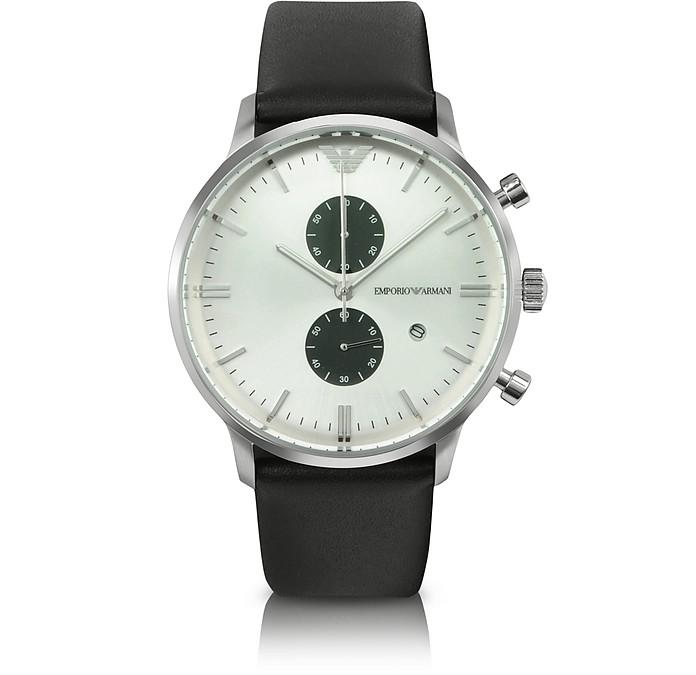 Gianni - Large Round Chronograph Watch - Emporio Armani