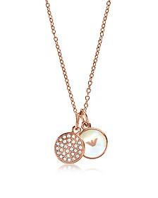 Signature Rose Goldtone Necklace w/Double Charms - Emporio Armani