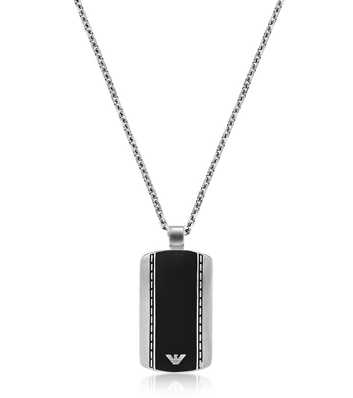 Men's Signature Dog Tag Necklace - Emporio Armani
