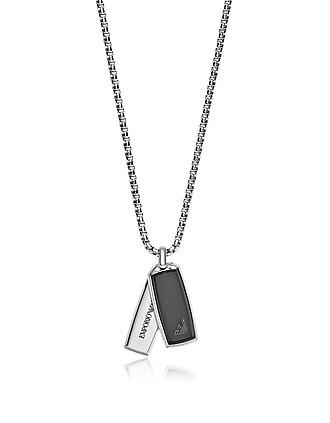 e5d594ba74a Emporio Armani. Signature Rectangular Pendants Men's Necklace…