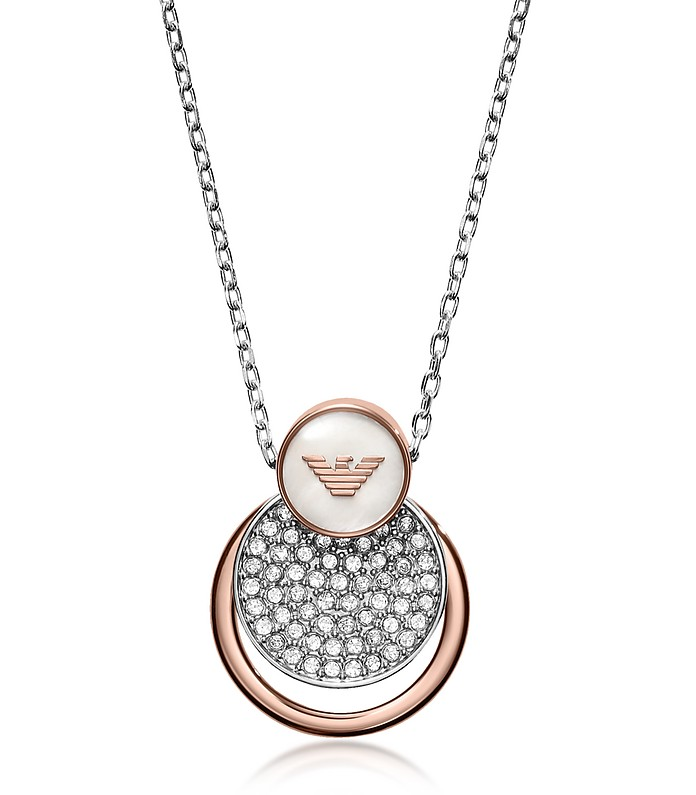 Signature Discs and Ring Women's Necklace - Emporio Armani