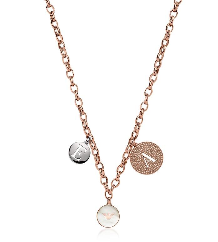Medallion Charms Women's Necklace - Emporio Armani