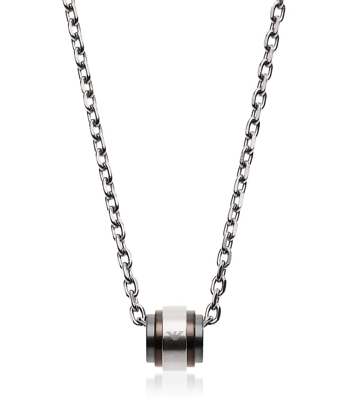 Tri-Tone Signature Men's Necklace - Emporio Armani