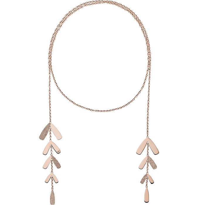 Abstract Leaves and Crystals Women's Necklace - Emporio Armani